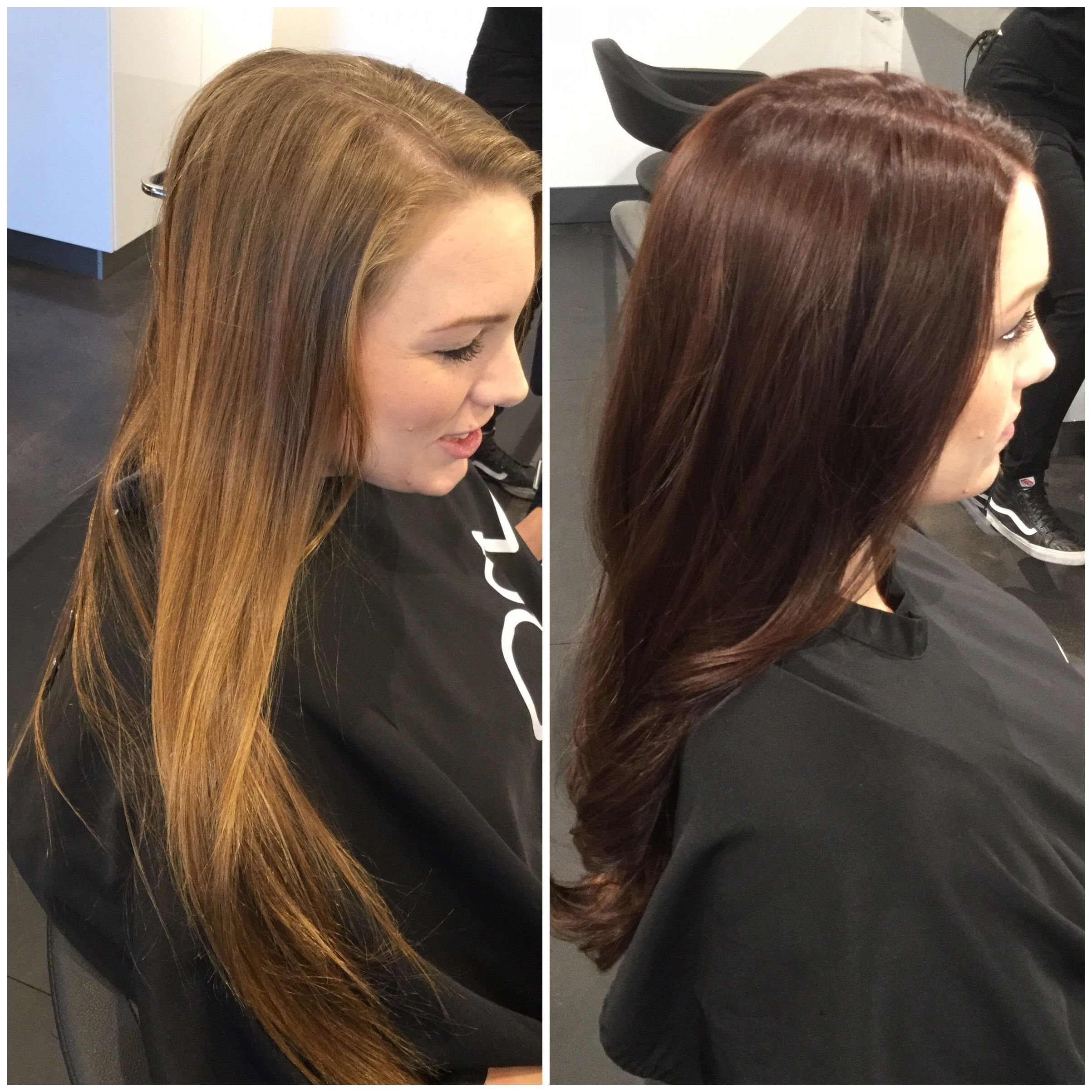 The Best Light To Dark Hair Color Transformation Before And After Pictures