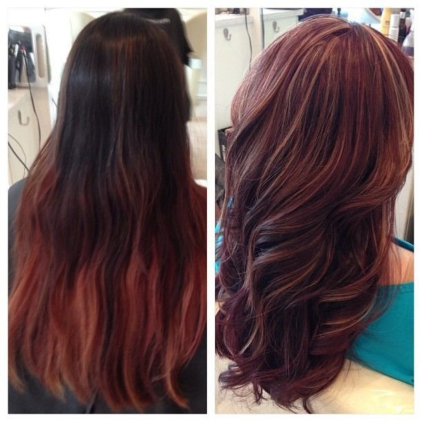 The Best Shareig Before After The Challenge Was To Str*P The Previous Black Red Ombre Color Dye Pictures