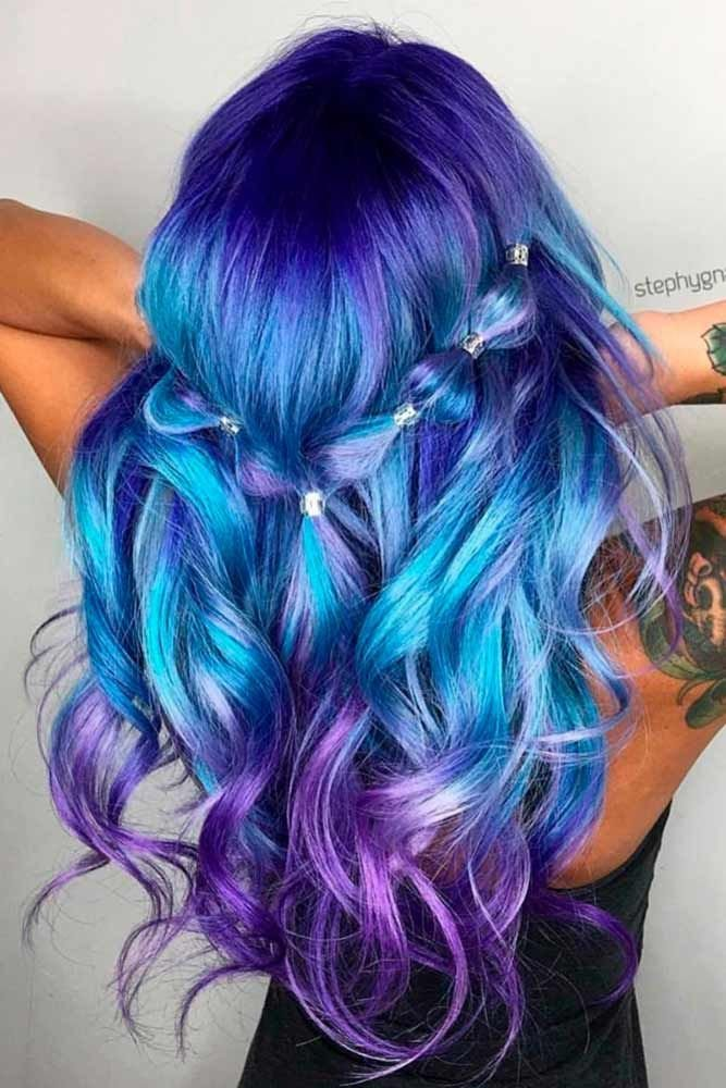 The Best 30 Trendy Styles For Blue Ombre Hair Magical Hair Colors Hair Blue Ombre Hair Hair Color Blue Pictures