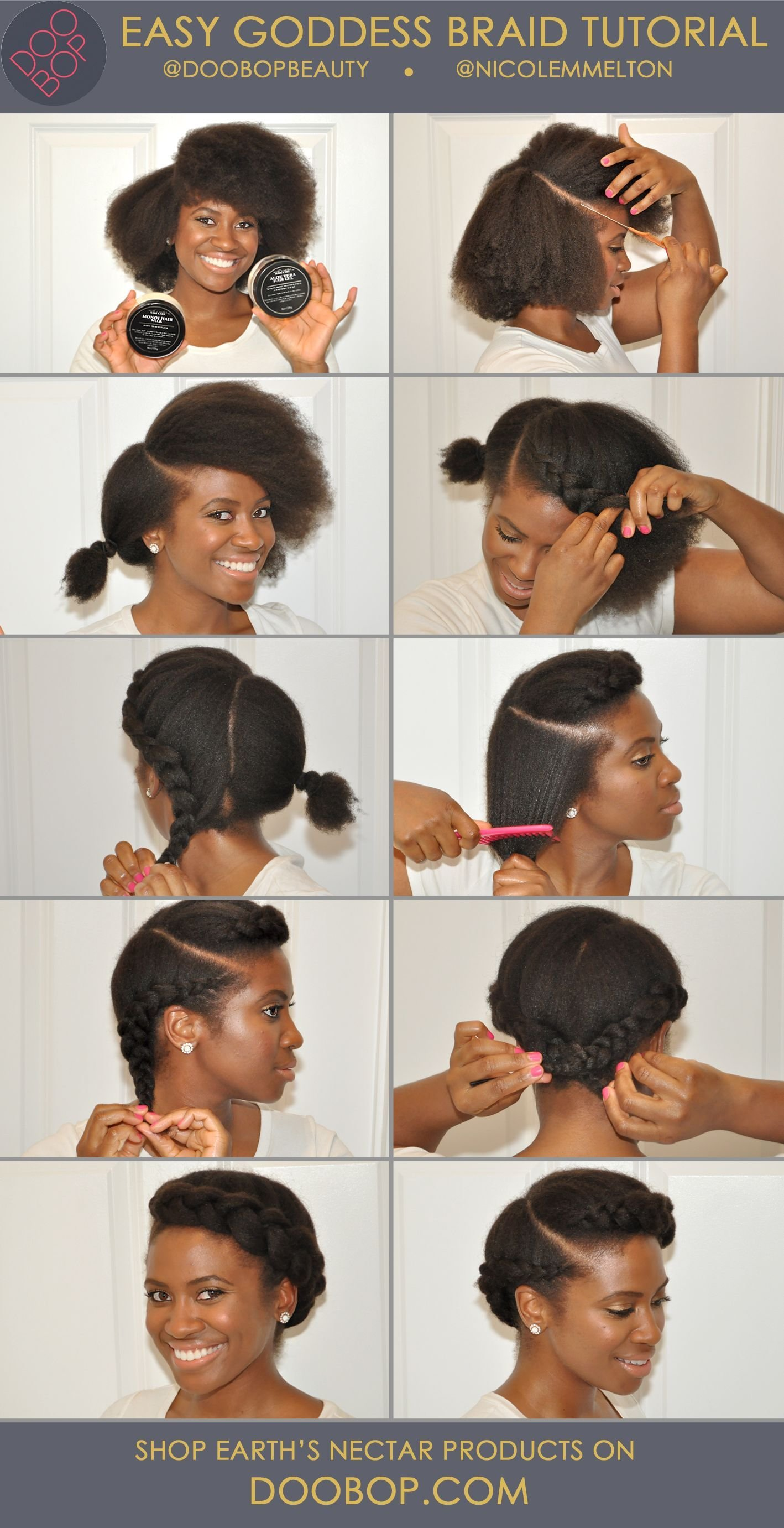 The Best Easy Natural Hair How To Goddess Braid With Earth's Pictures