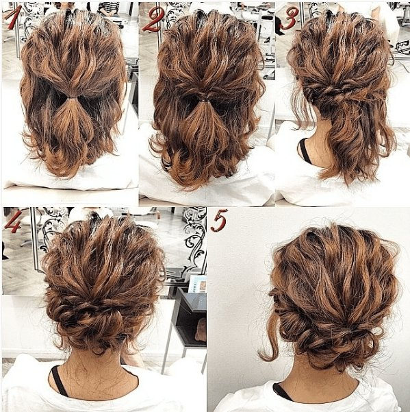 The Best Easy Updos For Short Hair To Do Yourself F*C**L Hair Pictures