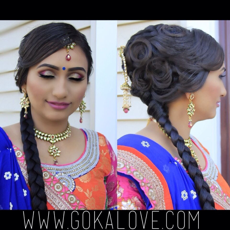The Best Makeup And Hair For A Garba Indian Wedding Braid Pictures