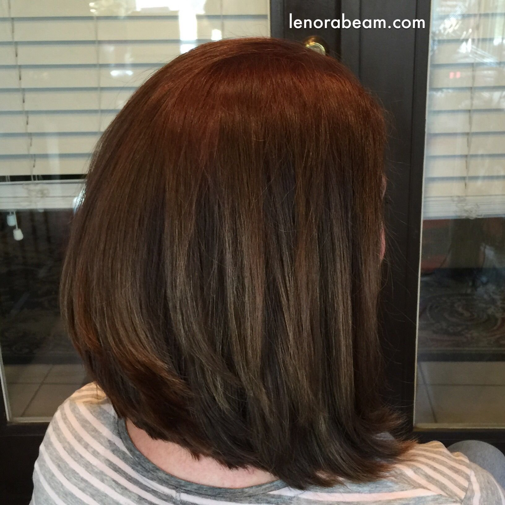The Best Trendy Lob Haircut Haircolor Redken Color Fusion 6N Global Application And Lowlights Hair Pictures