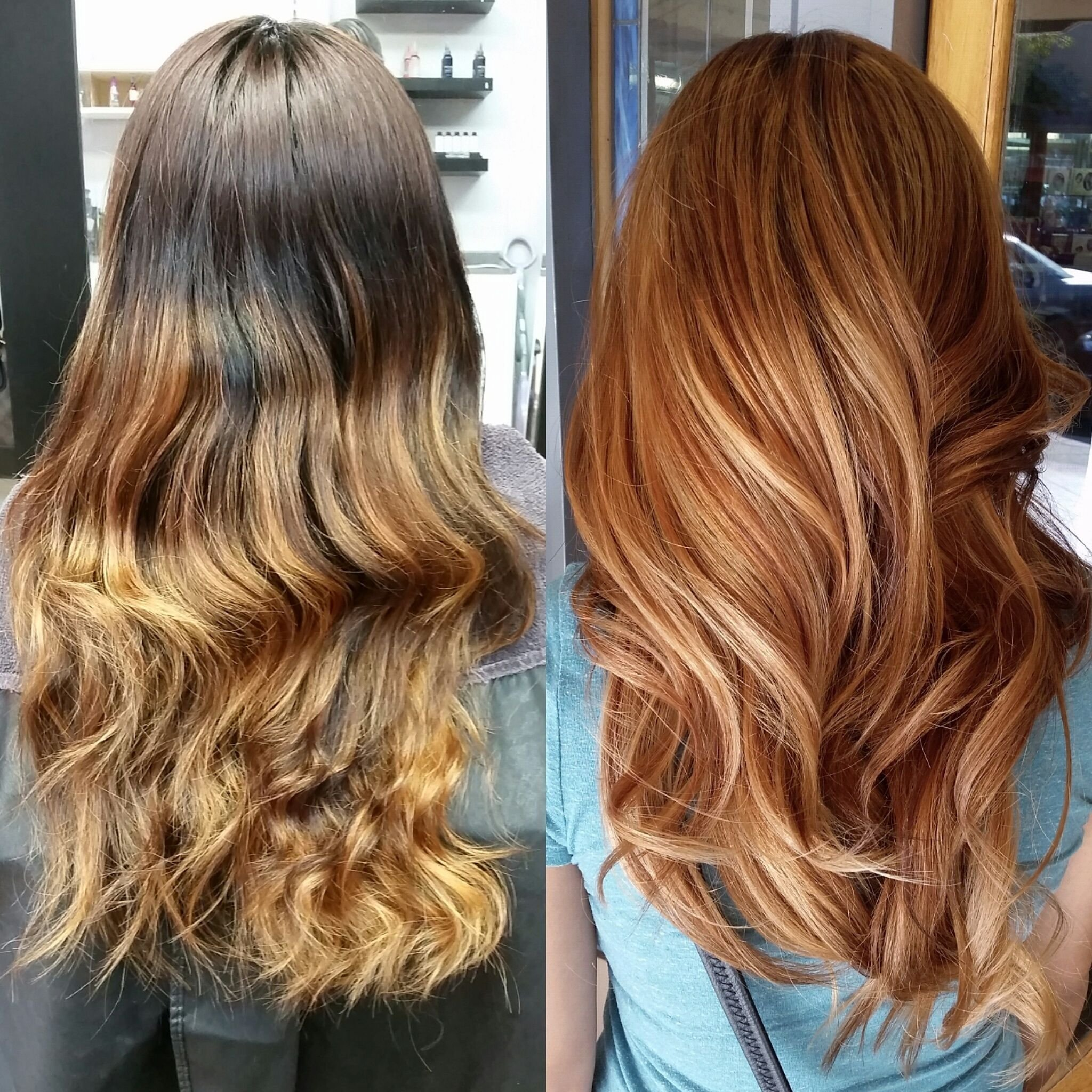 The Best Box To Ombre To Pretty Apricot Sombre Hairspiration Pictures