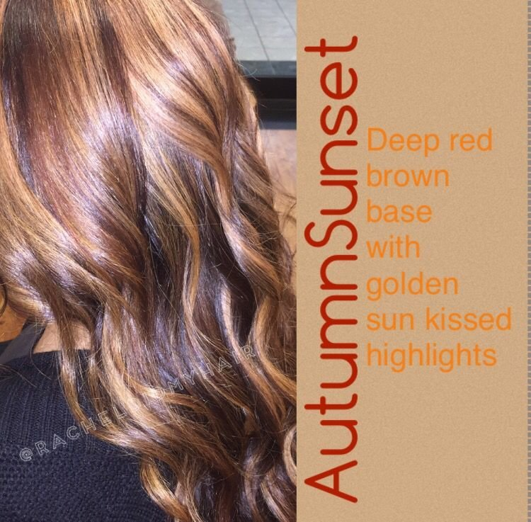 The Best Red And Blonde Hair Highlights Lowlights Autumn Sunset Pictures