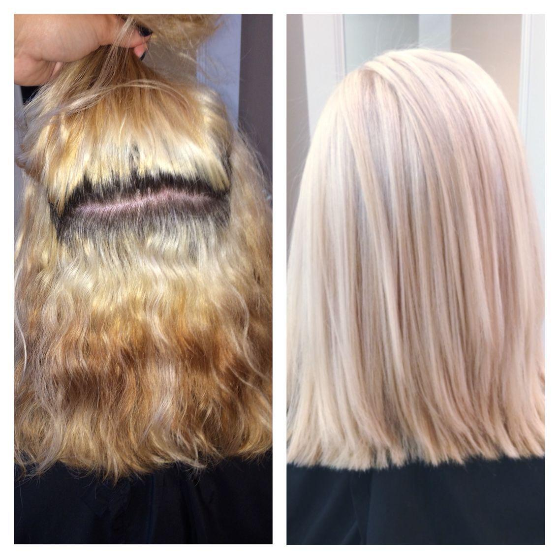 The Best Color Correction Platinum Blonde Achieved By Using Up To Pictures