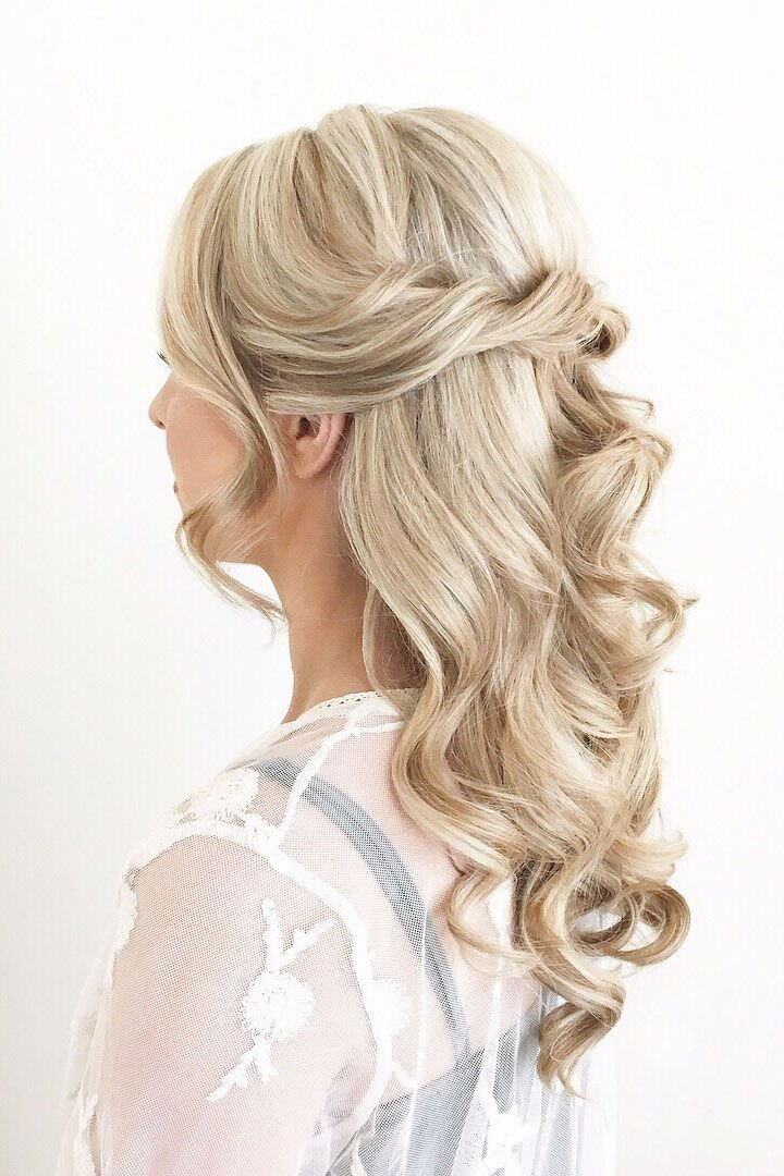 The Best Twisted Half Up Half Down Bridal Hairstyle Wedding Hairstyle Ideas Pictures