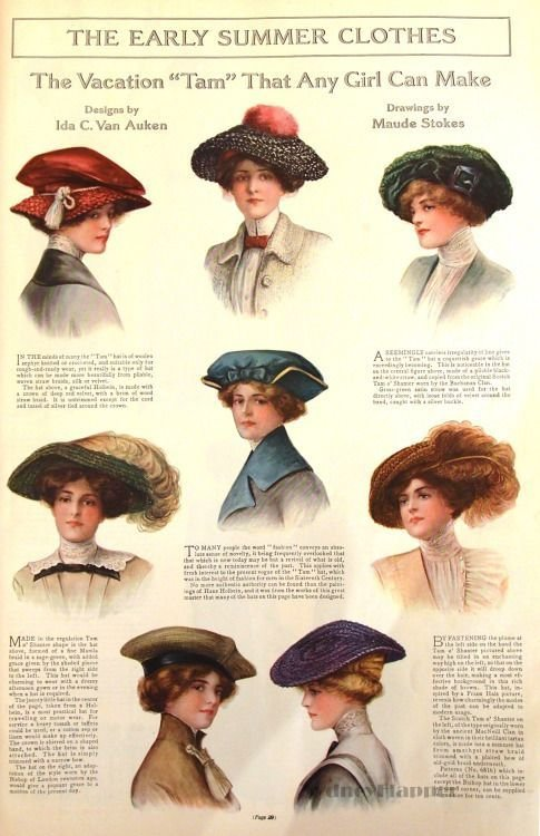 The Best Hats May 1912 Ladies' Home Journal Steam Deco Pictures