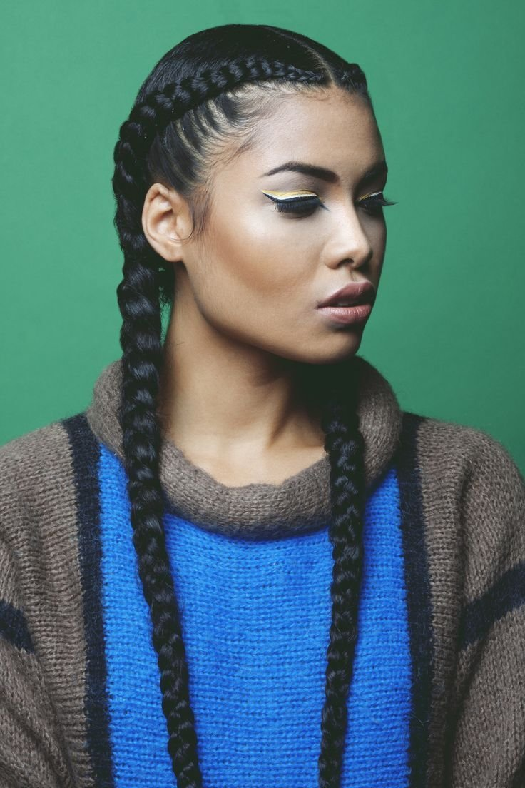 The Best 2 Cornrow Braids Google Search Hair Hair Styles Cool Braid Hairstyles French Braid Pictures