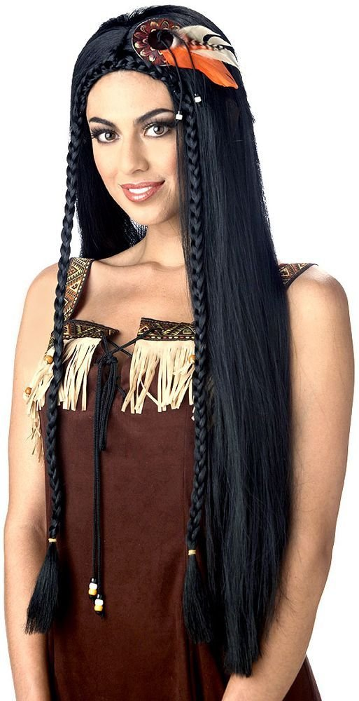 The Best Long Braided Black Indian Wig Costumes Native American Pictures