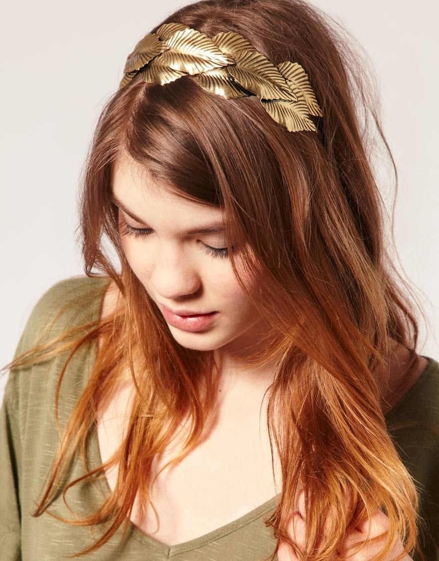 The Best Grecian Style Leaf Metal Hair Band J E W E L S Stylish Pictures