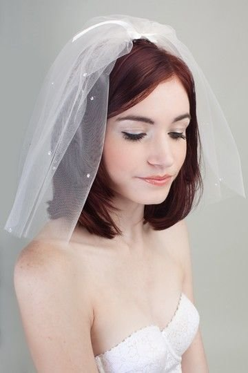 The Best Short 50S Style Vintage Fly Away Veil Veils Short Pictures