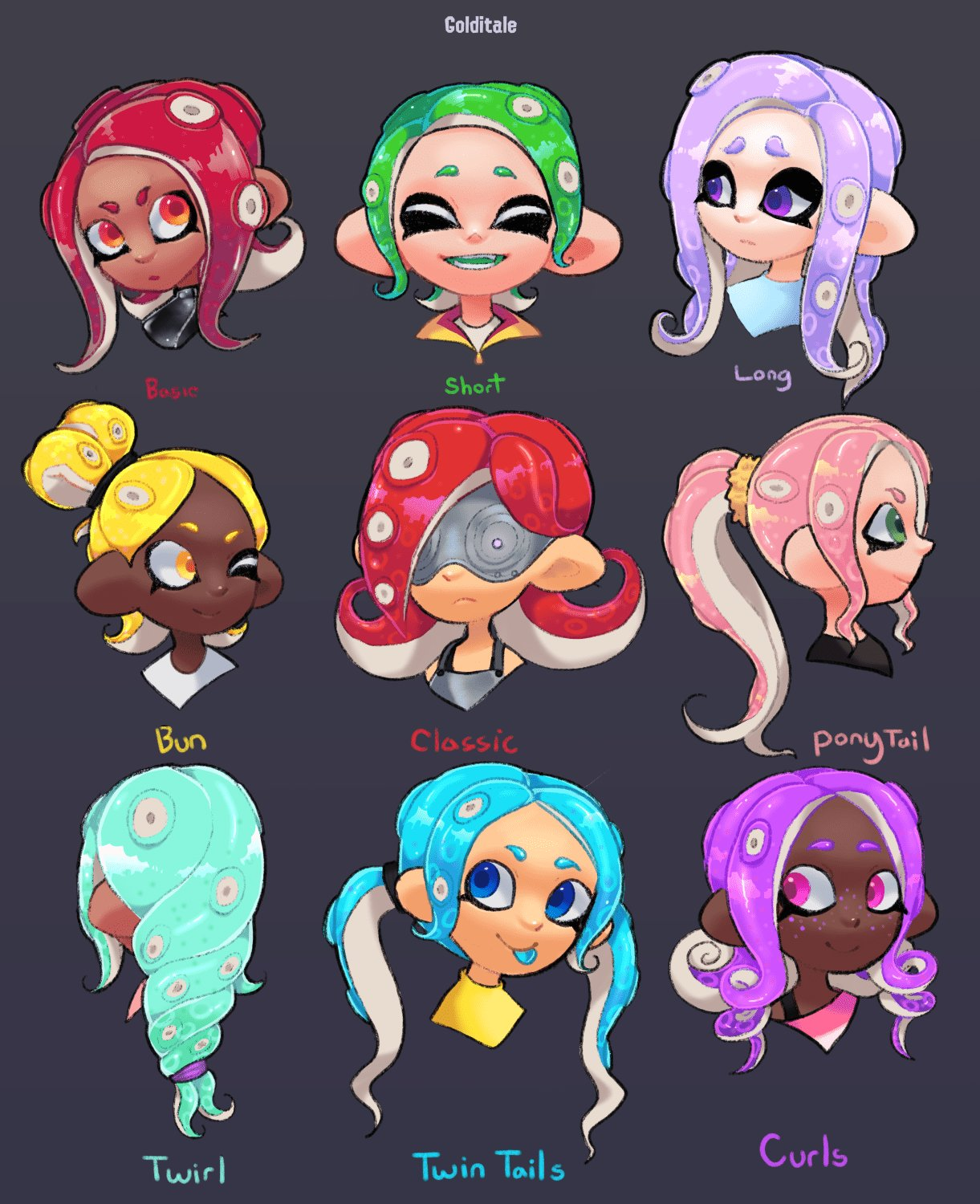 The Best I Made Some New Octoling Girl Hairstyles Splatoon Pictures