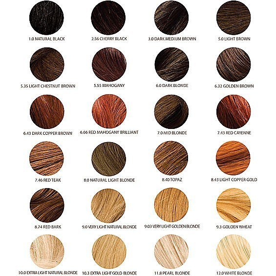 The Best Alter Ego Color Chart Hair Color Pictures