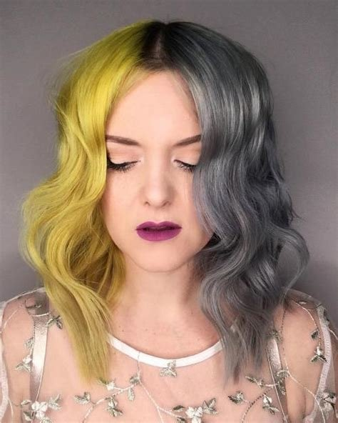 The Best Split Hair Color Ideas And Tips Pictures