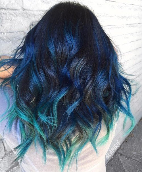 The Best Gimme The Blues Bold Blue Highlight Hairstyles Pictures