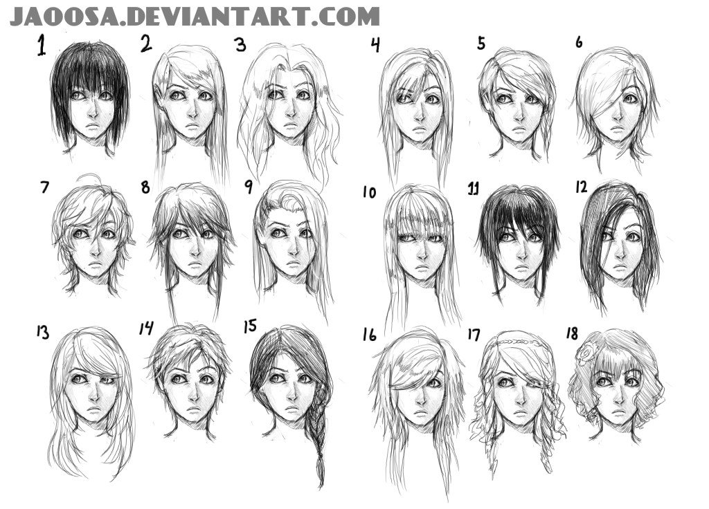 The Best Hairstyles 01 By Jaoosa On Deviantart Pictures
