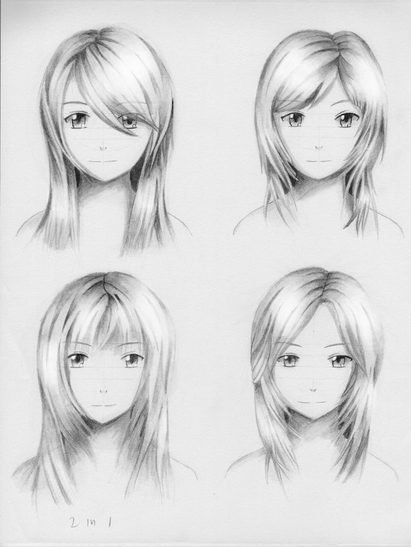 The Best Female Hairstyle Practice 3 By Shengodo On Deviantart Pictures