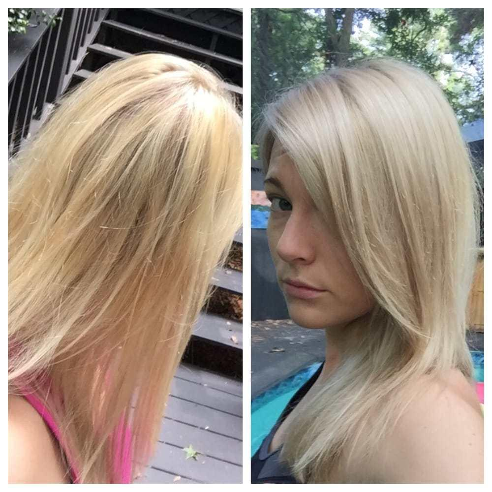 The Best Left Icky Yellow Orange Blonde Right Fixed At Gibson With An Ash Toner To A Beautiful Beige Pictures