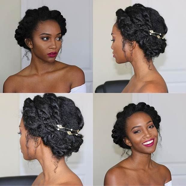 The Best 21 Chic And Easy Updo Hairstyles For Natural Hair Page 2 Pictures