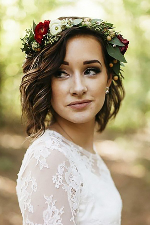 The Best 18 Gorgeous Wedding Hairstyles With Flower Crown Oh Best Pictures