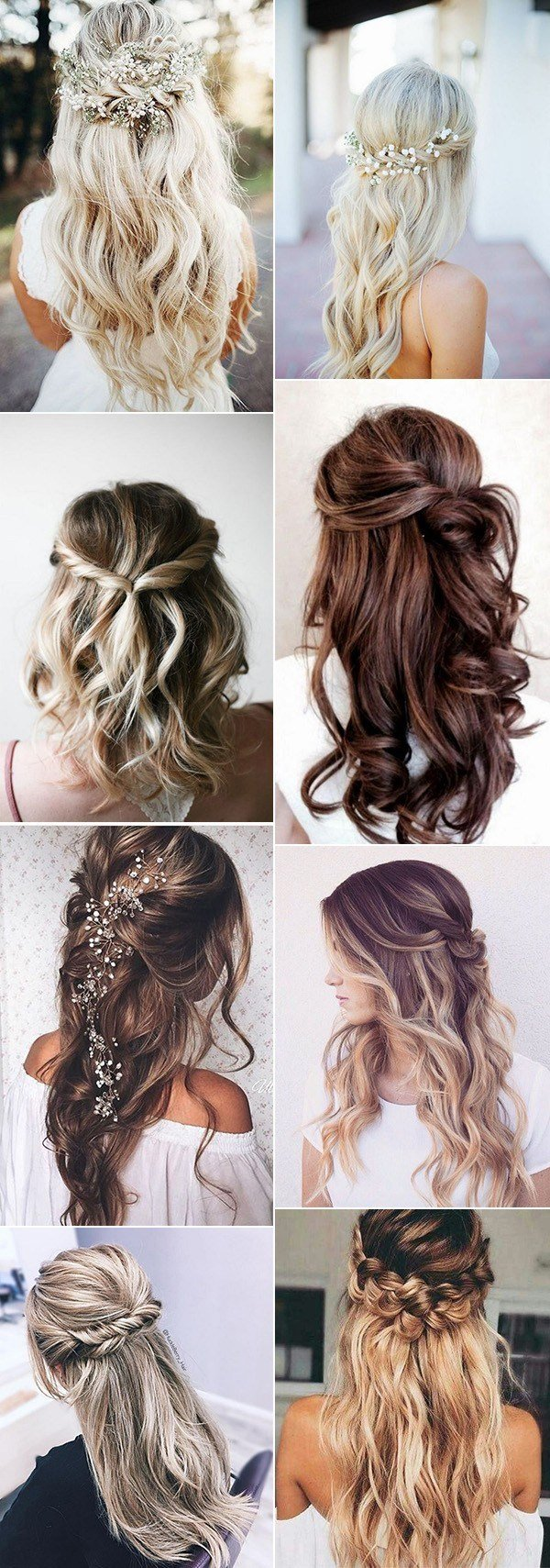 The Best Top 20 Half Up Half Down Wedding Hairstyles For 2018 2019 Pictures