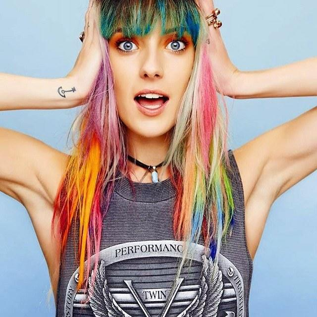 The Best Models Rainbow Colored Hair T**N Vogue Pictures