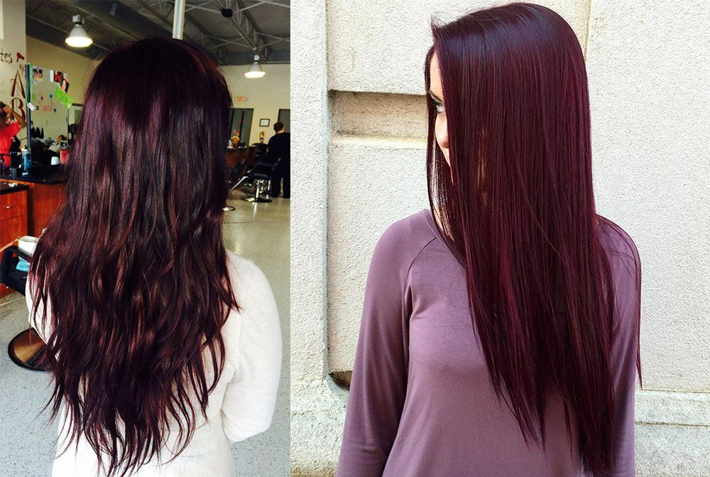 The Best Hair Color 2017 Black Cherry Hair Pictures