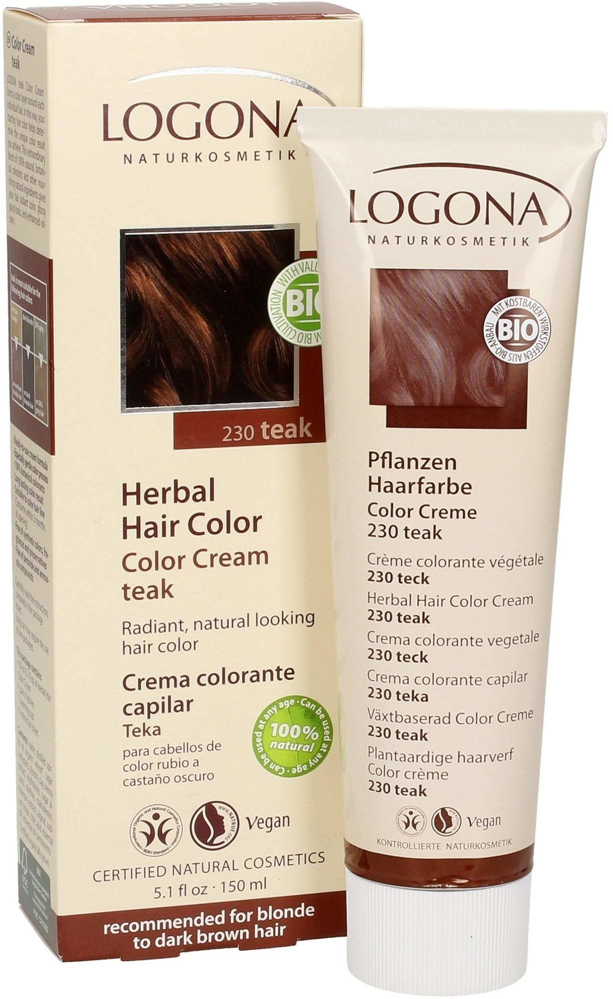 The Best Logona Color Cream Teak 150 Ml Ecco Verde Online Shop Pictures