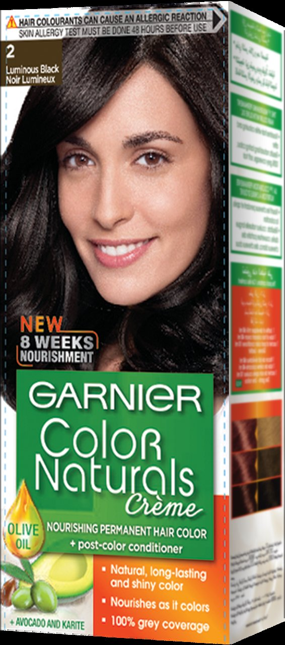 The Best Garnier Color Naturals Hair Color Creme Luminous Black 2 Pictures