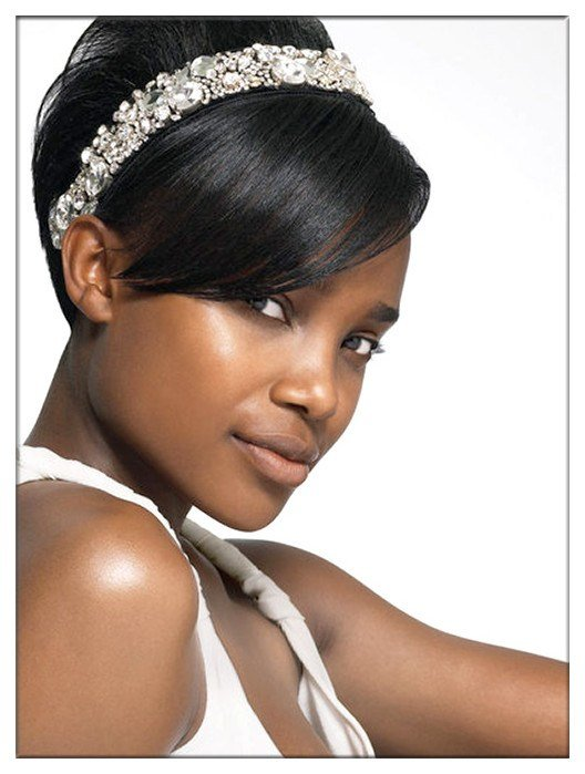 The Best Charming Bridal Hairstyle For Black Women By Evawigs Com Pictures