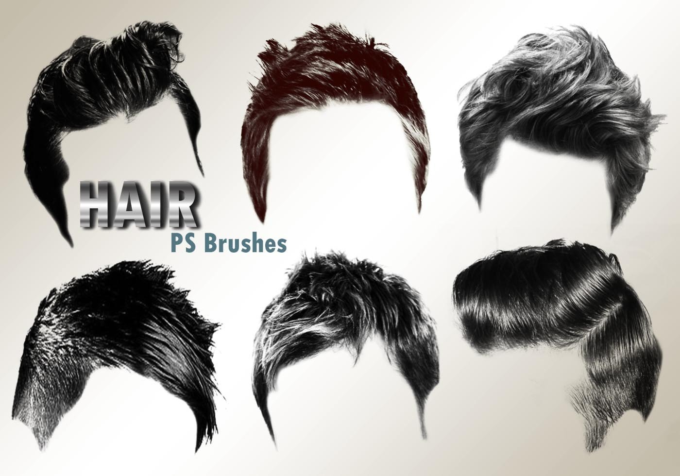The Best Hair Templates For Photoshop 20 Hair Male Ps Brushes Abr Vol 2 Free Photoshop Pictures