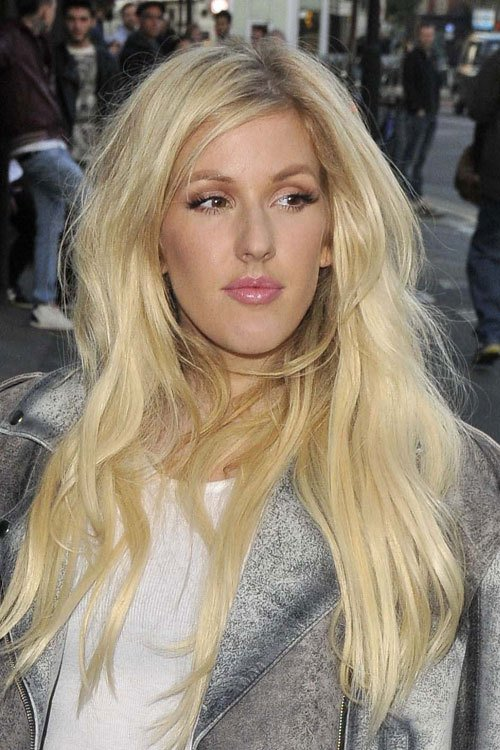 The Best Ellie Goulding Wavy Golden Blonde Hairstyle Steal Her Style Pictures