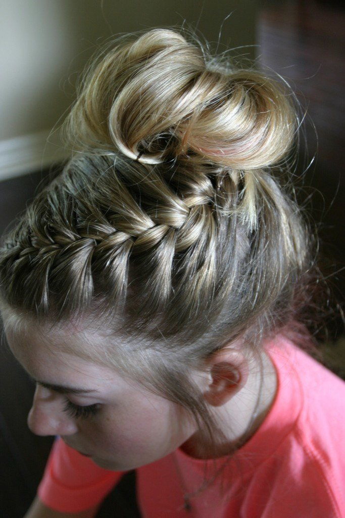The Best Dance Hair Braided Messy Bun Tutorial Sand Sun Messy Buns Pictures
