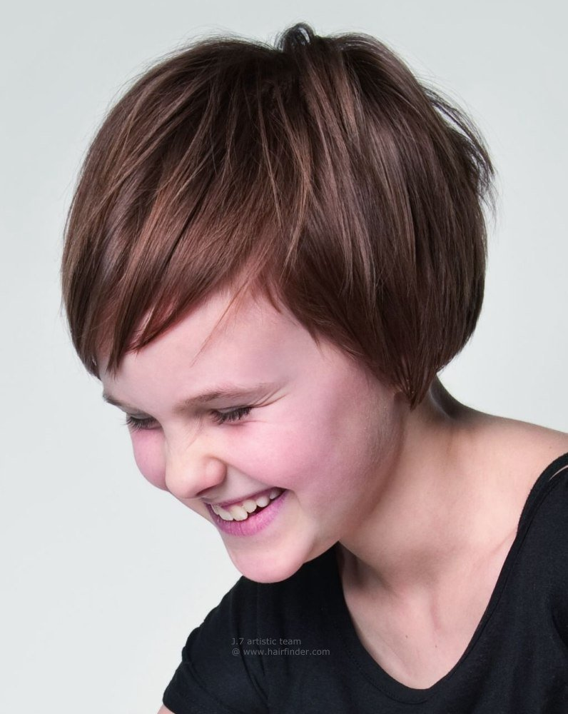 The Best Short Hairstyles For Kids With Thick Hair Hairstyle For Pictures