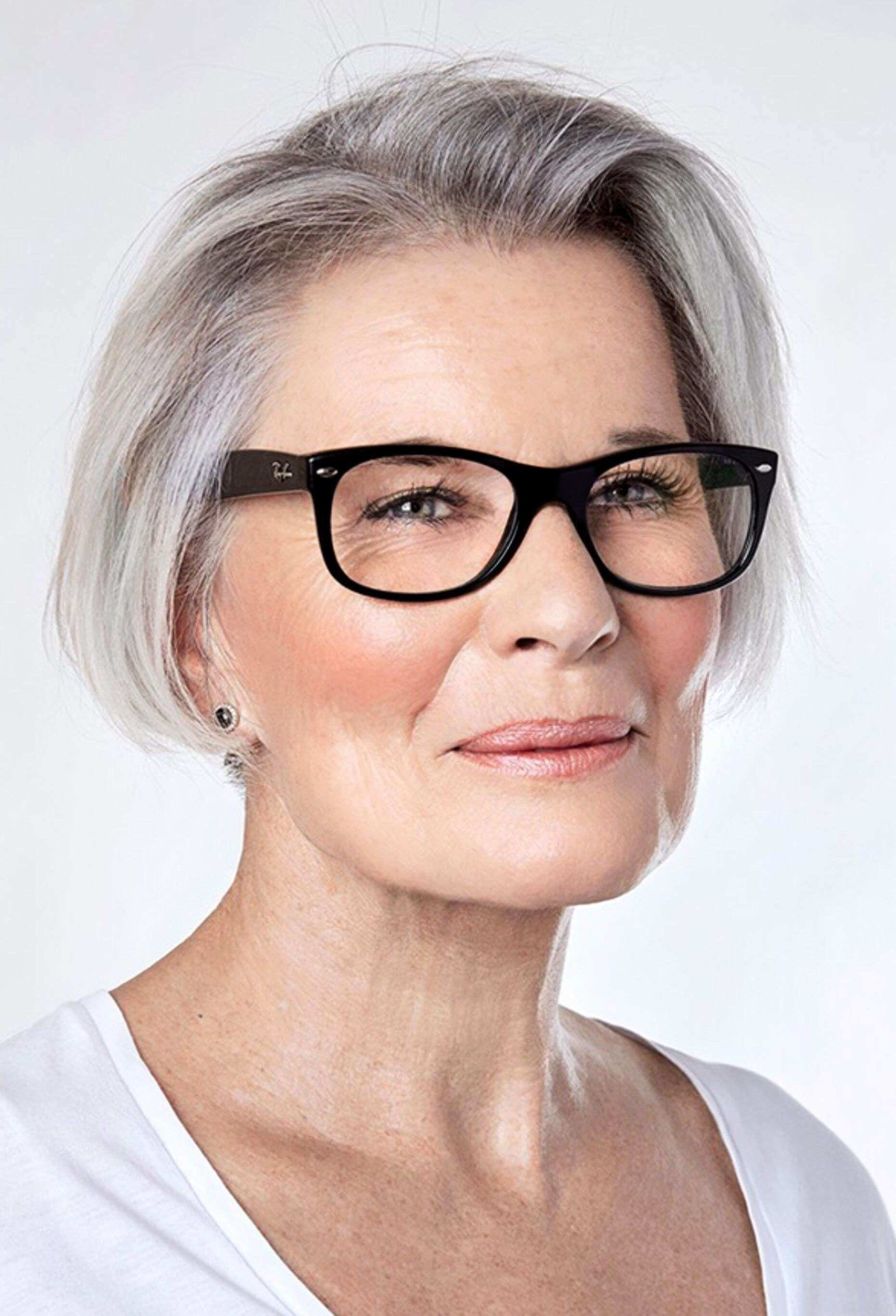 The Best 60 Hairstyles For Women Over 50 With Glasses Pictures