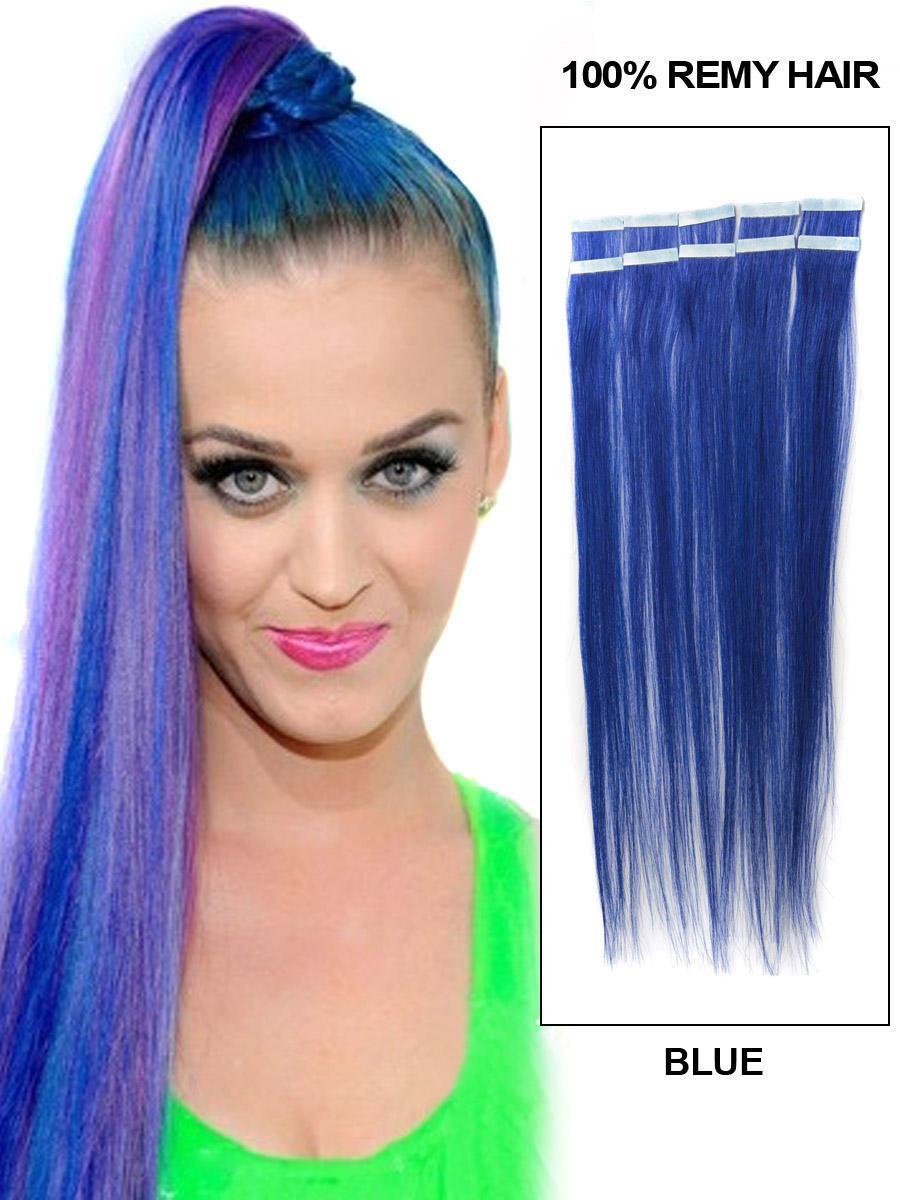 The Best 22 Inch Blue Characteristic Tape In Hair Extensions Pictures