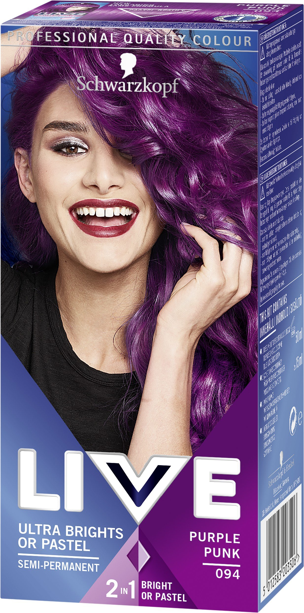 The Best Schwarzkopf Live Ultra Brights Or Pastel 94 Purple Lyko Se Pictures