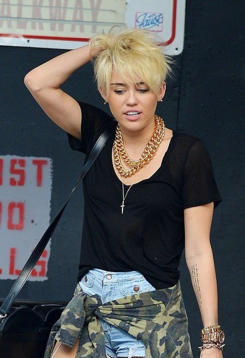 The Best Miley Cyrus New Short Pixie Haircut 2012 New Hd Pics In Pictures