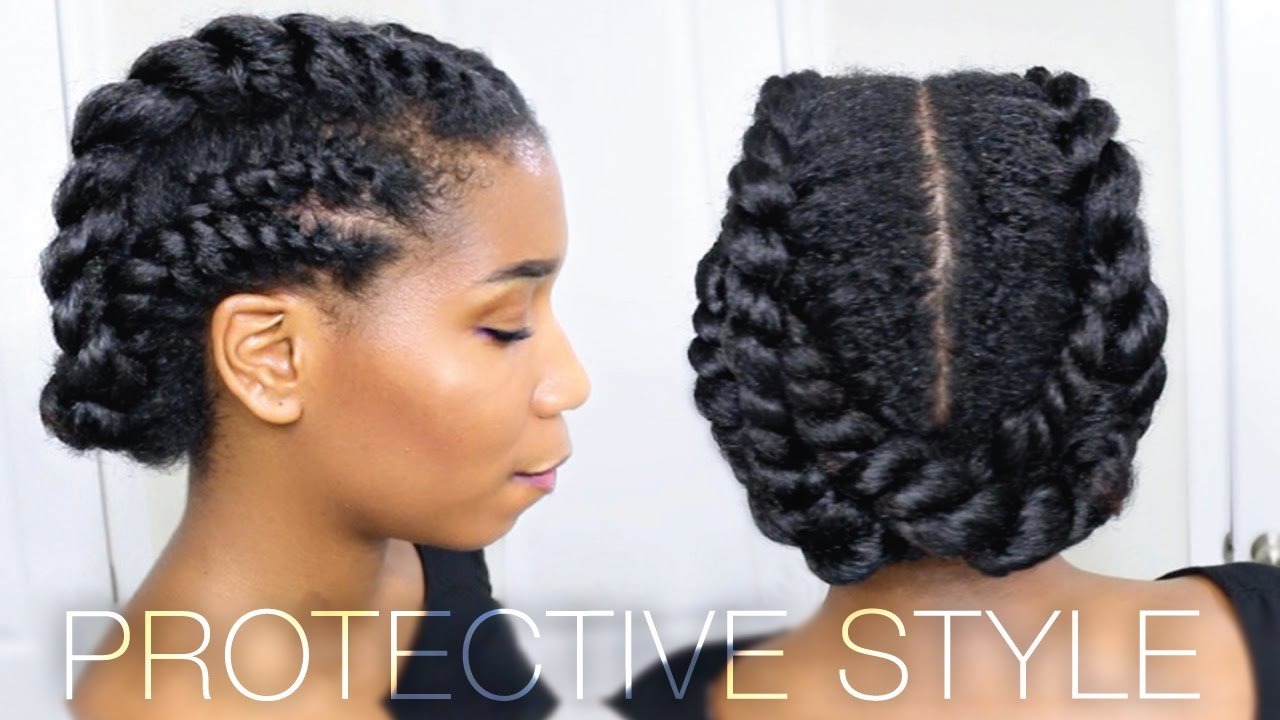 The Best Edgy Twisted Office Gym Protective Natural Hairstyle Pictures
