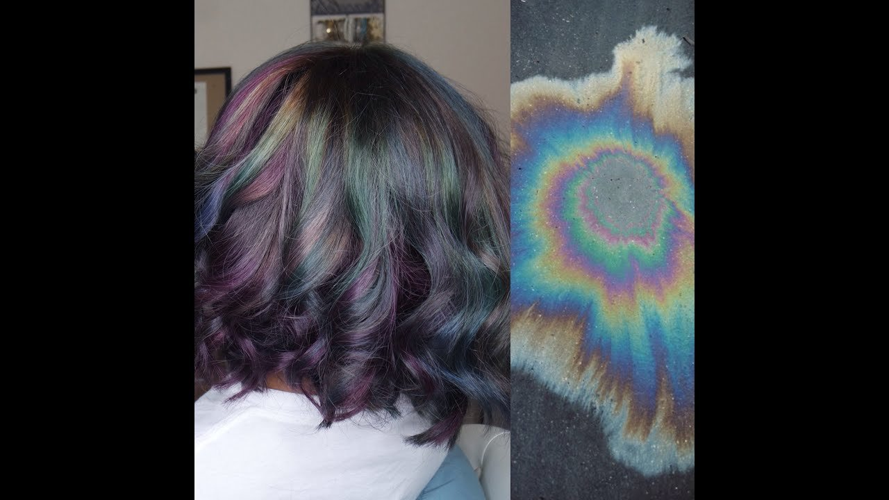 The Best Oil Spill Oil Slick Iridescent Hair Color Tutorial Youtube Pictures