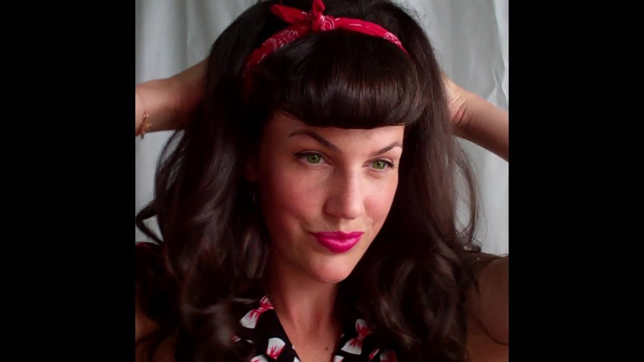 The Best Super Quick And Easy Faux Bettie Bangs U Shaped Fringe Pictures