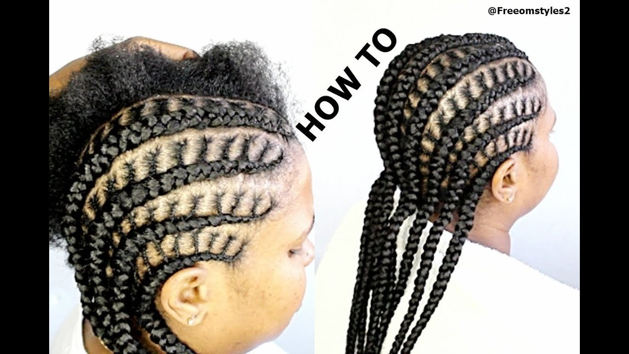 The Best How To Do Simple Cornrow Braids Youtube Pictures
