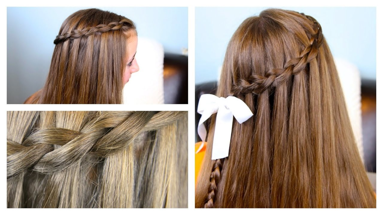 The Best The Dutch Waterfall Braid Cute Girls Hairstyles Youtube Pictures