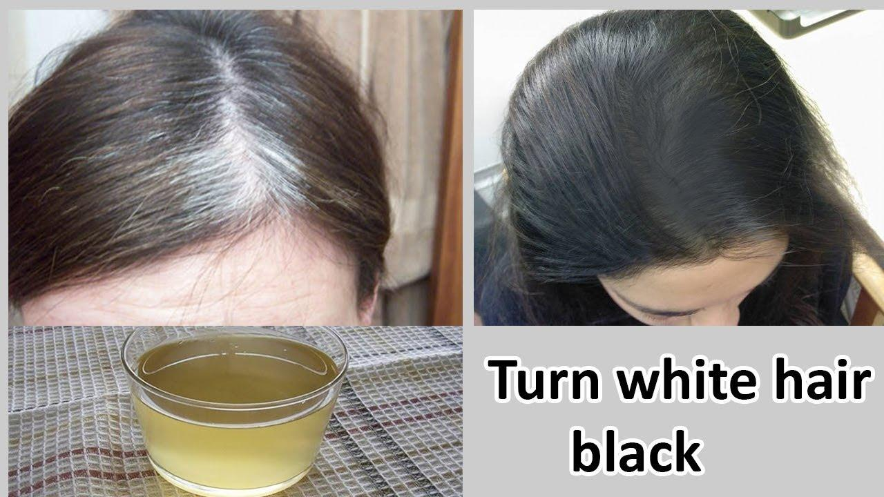 The Best How To Turn White Hair Into Black Hair Naturally Youtube Pictures
