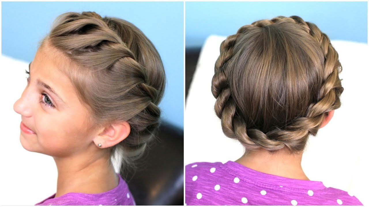 The Best How To Create A Crown Twist Braid Updo Hairstyles Youtube Pictures
