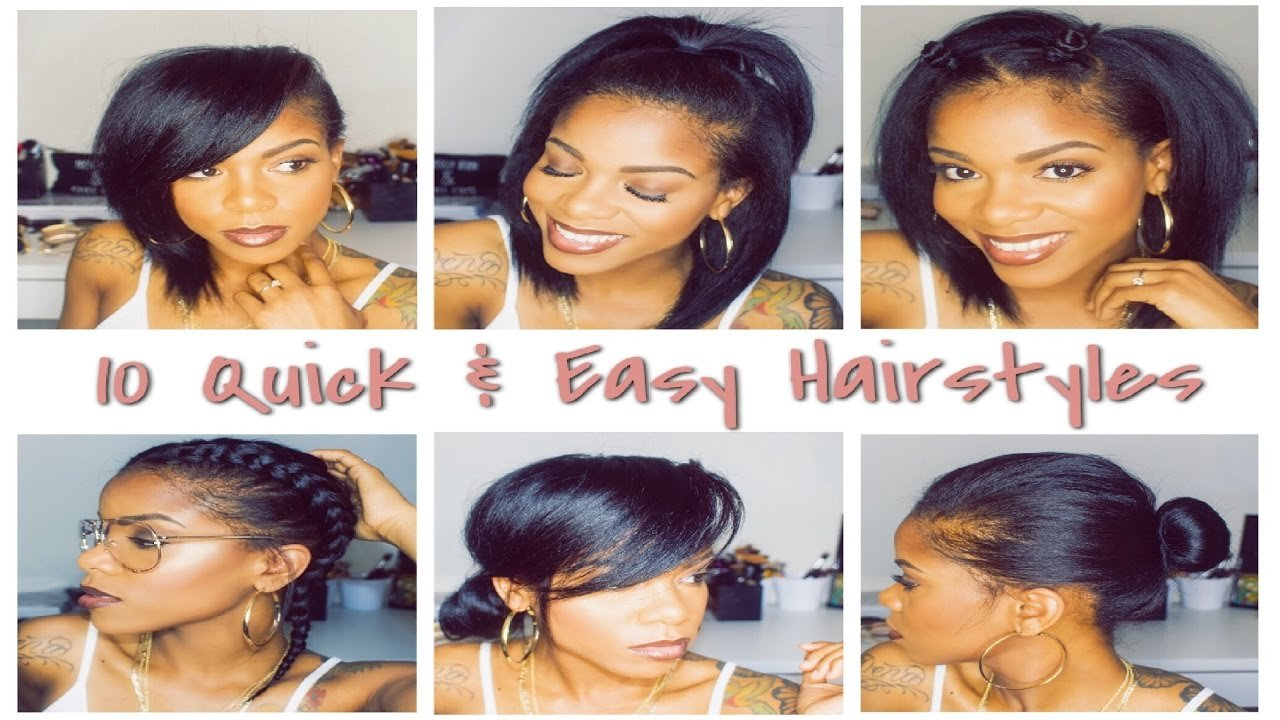 The Best 10 Easy Hairstyles In Under 3 Minutes Youtube Pictures