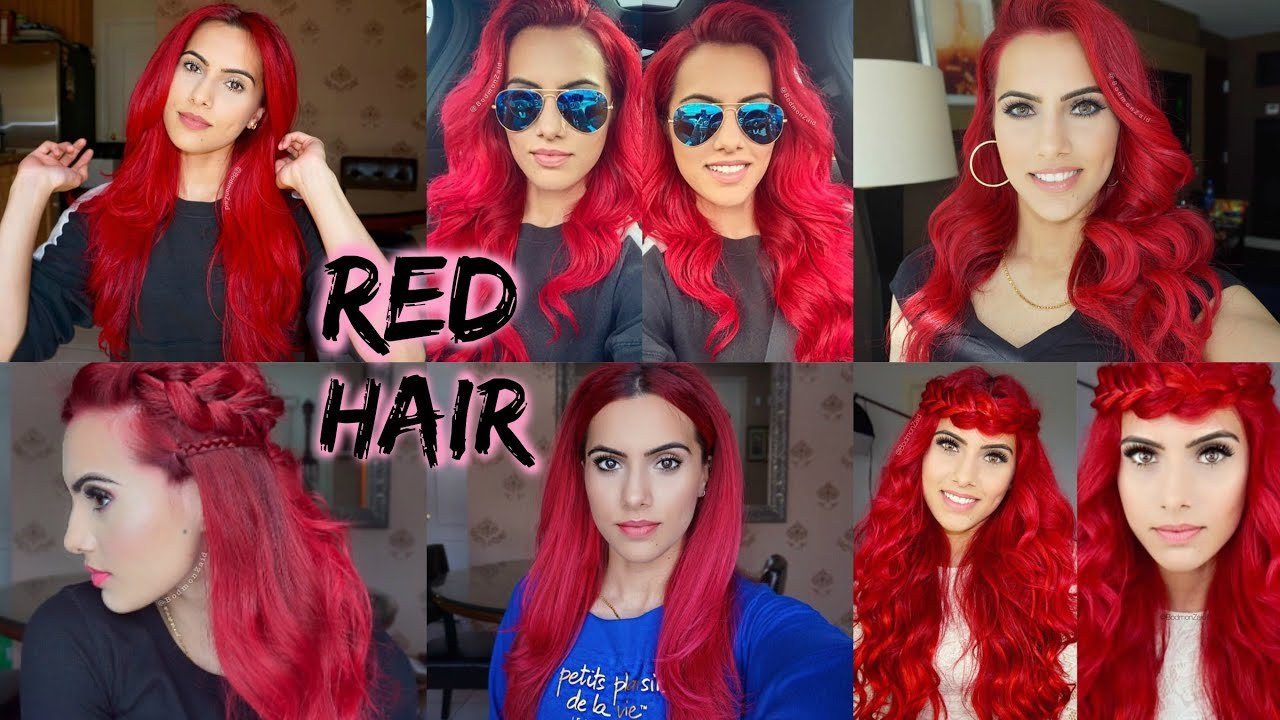The Best How To Dye Dark Hair Bright Red Without Bleach Youtube Pictures