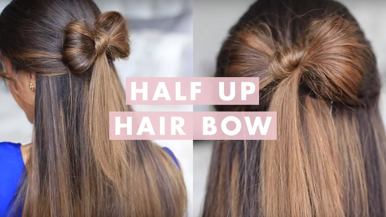 The Best Half Up Hair Bow Cute Hair Tutorial Youtube Pictures