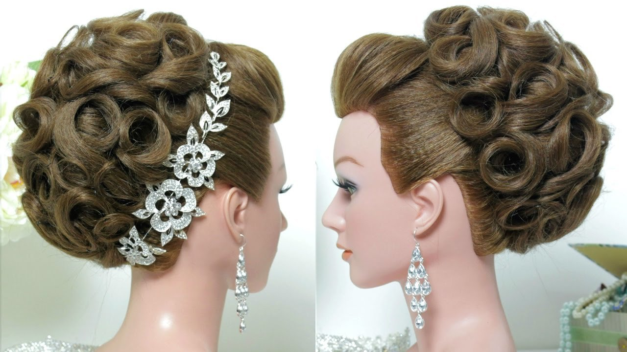 The Best Bridal Hairstyle Wedding Updo For Long Hair Tutorial Pictures